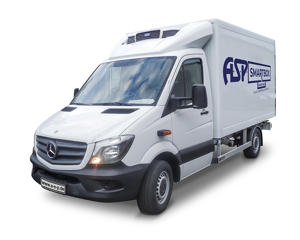 SmartBox Kühlkoffer Mercedes von Vorne